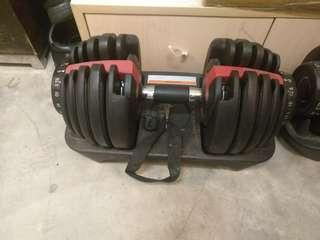 Quick release dumbbell