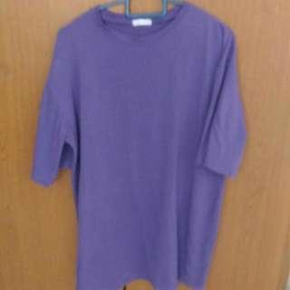 Ulzzang Purple Shirt