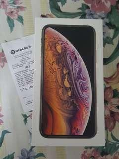 Brand new Apple Iphone XS 256GB gold Recontract From Singtel