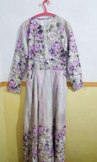 Long Dress Flower - Purple