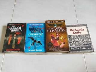 🚚 Hunger games, The red pyramid, the subtle knife