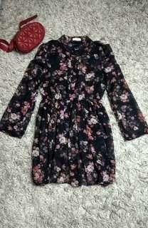 Korean dress ( dress cantik / dress import / dress korea / floral dress / dress kece )