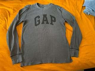 Gap grey Cotten logo tee 灰色棉質男裝衫