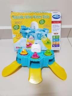 Tubside igloo water slide