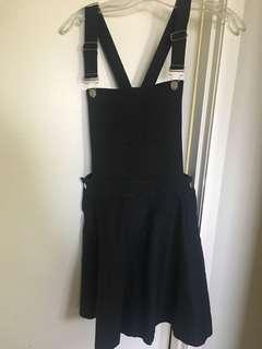 Black overall skater dress