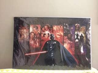 Starwars print on cardboard