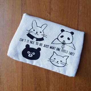 New Cute Handmade Canvas Hand Pouch / Wallet (from Japan!!)