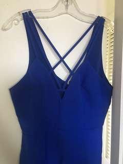 Strappy navy blue dress