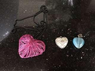 Heart-Shaped Necklace Charms