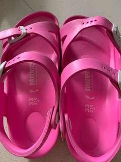 Birkenstock sandles - size 33 Used Pink