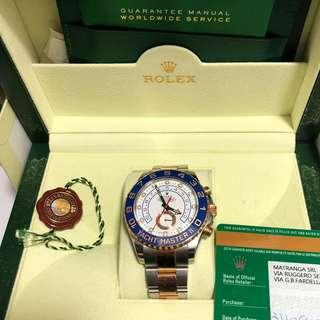 劳力士Rolex Yachtmaster 2 full set 18k rose gold