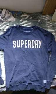 Superdry 衛衣 Navy size L