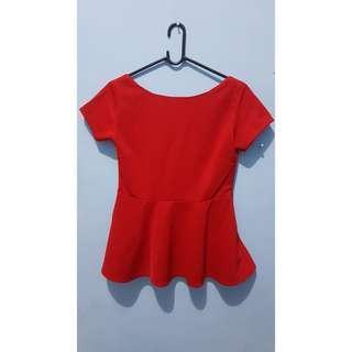 Red Top / Atasan Merah