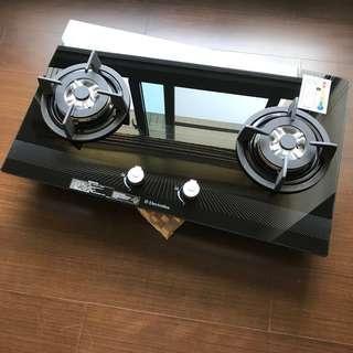 Electrolux 伊萊克斯玻璃雙口瓦斯爐 檯面爐