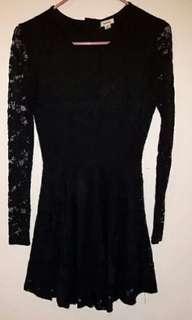 Garage lace black dress