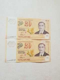 $20 Notes