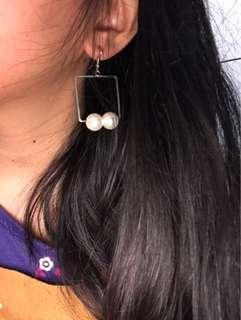 Anting Gantung Hanging Earrings Mutiara Pearl
