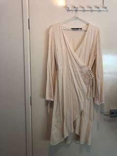 GLASSONS LINEN WRAP DRESS 10