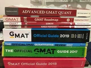 GMAT Books - brand new OG 2019 and others