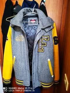 🚚 Edwin 5th Street高磅數羊毛棒球外套-XL