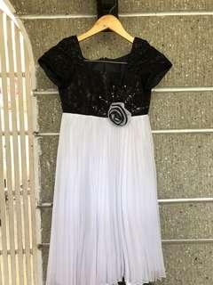 Black & White Graduation Dress