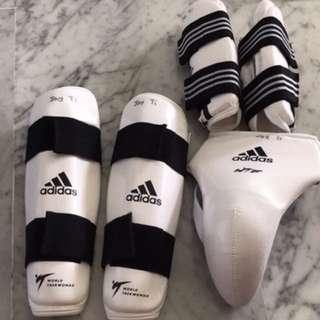 Adidas taekwando guards XS size boys