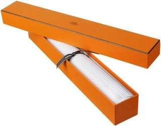 White Hermès Vetiver scented drawer liners. Includes box.