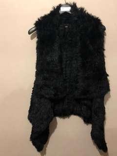 Rudsak real rabbit fur vest - size M/L
