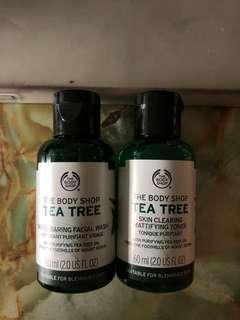 The Body Shop Tea Tree Facial Wash & Toner