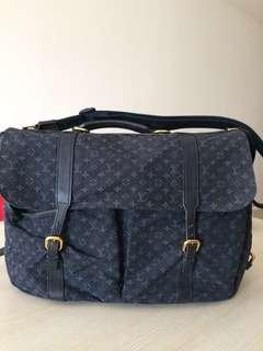Tas Louis Vuitton Monogram Mini Lin Sac A Langer Maman Black Diaper Bag