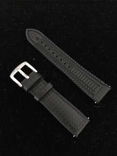 20mm carbon fiber / rubber watch strap hybrid