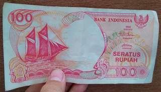 Uang kuno seratus rupiah tahun 1992