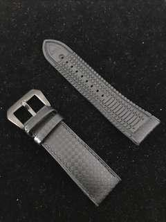 24mm carbon fiber rubber watch strap hybrid