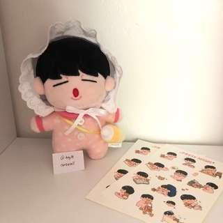 BTS Jimin doll 15cm (jjimi doll)