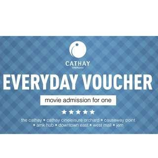 🚚 (Valid till 31 May 2019)Cathay Cineplexes Everyday Movie Voucher