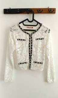#CNY2019 White Lace Outer
