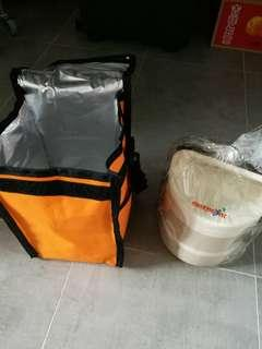 Tingkat lunchbox with insulator bag
