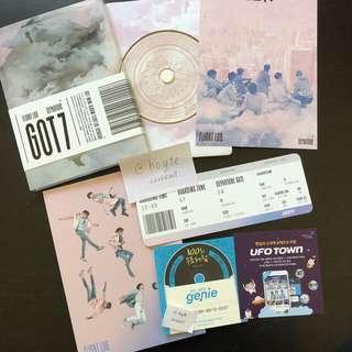 OFFICIAL GOT7 Departure album - Rose Quartz ver