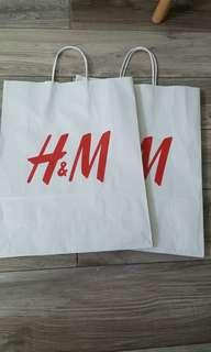 H&M Paper bags for sale
