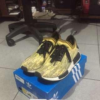 Adidas NMD R1 Yellow Gold Glitch