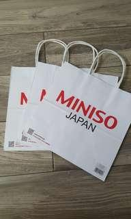 Miniso *New* Paper Bags for Sale