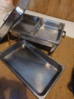 🚚 3 sets of Whole/Half Chafing Dish