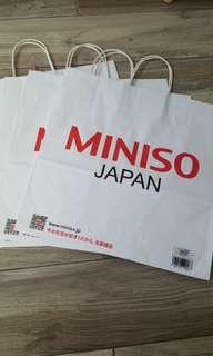 Large miniso paper bags for sale