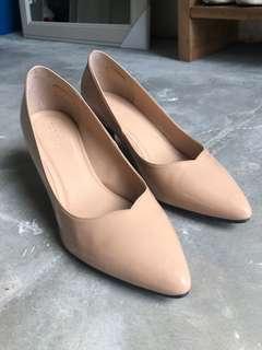 Nude one inch heels