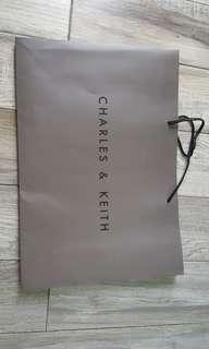 Charles and Keith Paper bag for sale