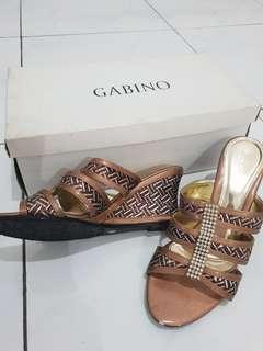 Wedges pesta bronze brand Gabino size 36 #CNY2019