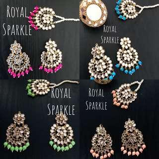 Tikka earrings set