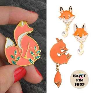 🚚 [AVAIL] Fox Enamel Pins
