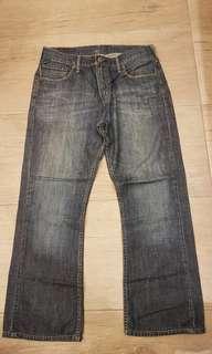Lev's 527 men authentic bootcut denim jeans, size 33