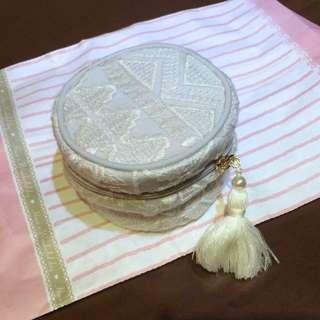 粉藍色lace旅行飾物包